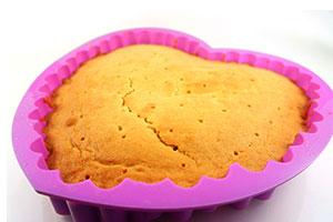 Silkonbackformen Kuchen fertig gebacken